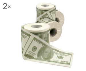 Set de 8 rollos de papel higiénico Dólares