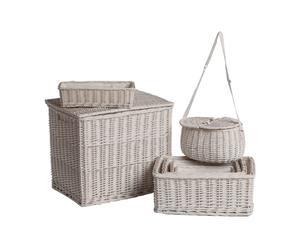 Set de 7 cestas de mimbre Arles