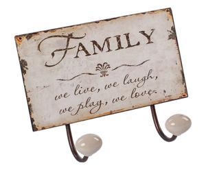 Perchero de doble gancho Family
