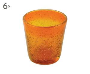 Juego de 6 vasos de vino Cancun – naranja