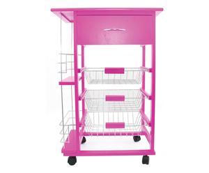 Carrito de cocina, grande – rosa