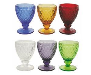 Set de 6 copas de agua Imperial – multicolor
