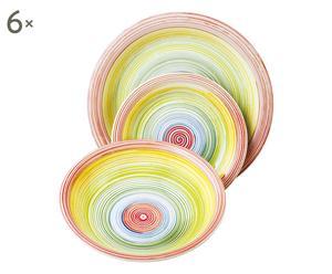 Vajilla de gres MILLERIGHE - 18 piezas