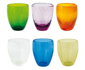 Set de 6 vasos de agua Maracaibo - multicolor