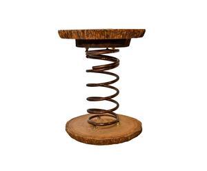 Taburete de madera y metal