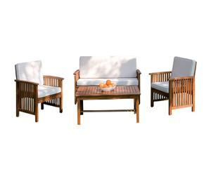Conjunto de salón exterior de madera - natural