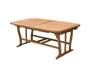 Mesa de jardín extensible de madera