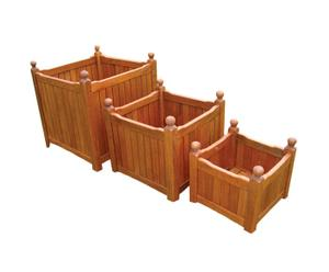 Set de 3 maceteros de madera