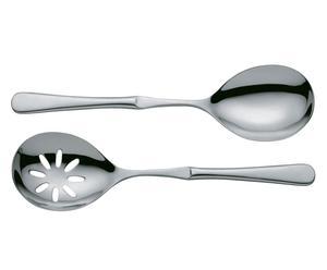 Set de cucharón y cuchara perforada en acero - acero