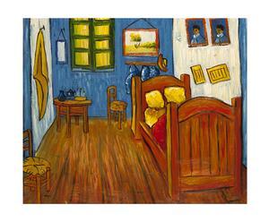 Pintura al óleo sobre lienzo de pintura Dormitorio en Arles - 50x60cm