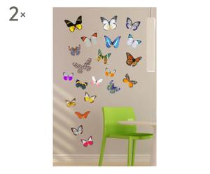 SET DE 2 VINILOS DECORATIVOS EN PVC - MARIPOSAS