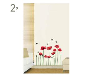 SET DE 2 VINILOS DECORATIVOS EN PVC - FLOWERS