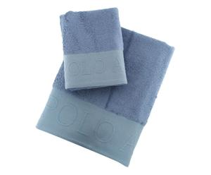 Set de toalla de lavabo y toalla de ducha Plattsburg – azul