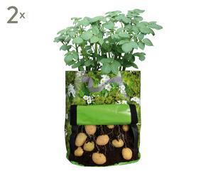Set de 2 bolsas de lona para cultivar patatas