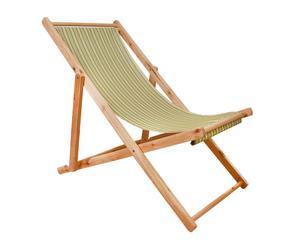 Tumbona plegable de madera y tela Summer