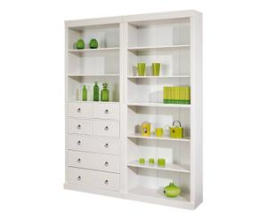 Mueble modular de madera maciza SIMPLY, Blanco – 4 módulos