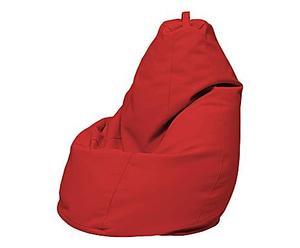 Puf-saco en ecopiel - rojo