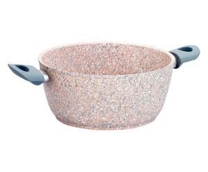 Cacerola de aluminio revestido de granito cuarzo, gris – Ø24