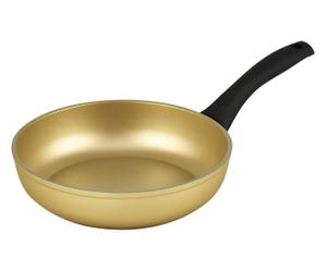 Sartén de aluminio con revestimiento antiadherente Stonegold, negro - Ø24