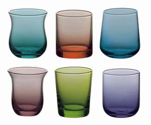 Set de 6 vasos de licor - multicolor