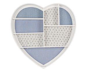 Porta joyas de pared Corazón - azul