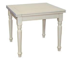 Mesa de comedor extensible - blanco