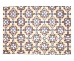 Alfombra de exterior Opal, crema y violeta I – 230x160