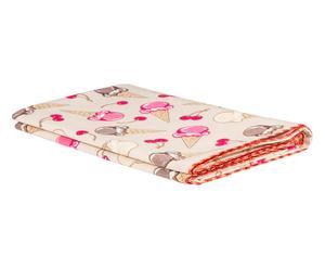 Mantel de algodón Helados, crema - 140x300