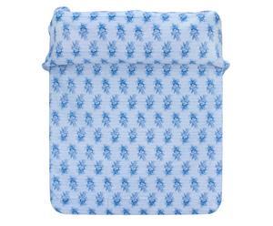 Colcha en algodón, azul – 220x280