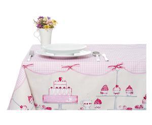 Mantel de algodón Cupcake, rosa - 140x360