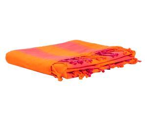 Fouta-toalla en algodón 100% Greek – naranja