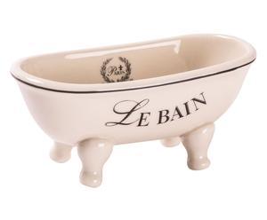Jabonera de cerámica en forma de bañera Le Bain I – blanco