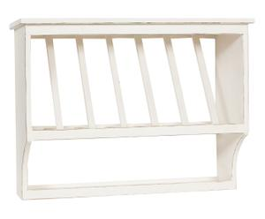Escurreplatos de madera con 7 compartimentos – blanco