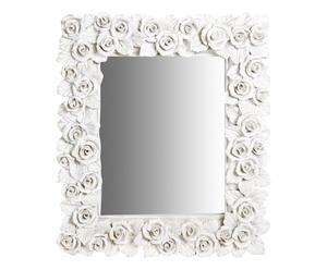Espejo rectangular de resina Rose – blanco