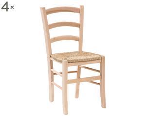 Set de 4 sillas de madera Lolita