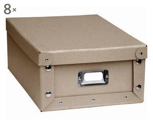 Set de 8 cajas medianas de cartón ecológico