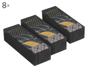 Set de 8 divisores de cajones pequeños -negro