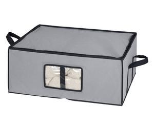 Caja de almacenaje con asas en polipropileno - gris