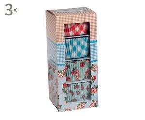 Set de 3 cajas con 100 cápsulas para cupcake – 300 cápsulas