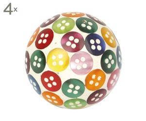Set de 4 tiradores de cerámica Buttons – Ø3,7