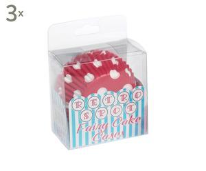 Set de 3 cajas de moldes para cupcakes de papel Heart