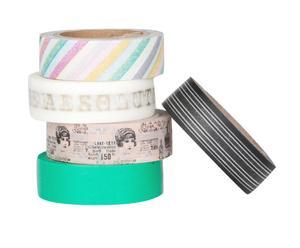 Set de 5 rollos de cinta adhesiva decorada Amazing