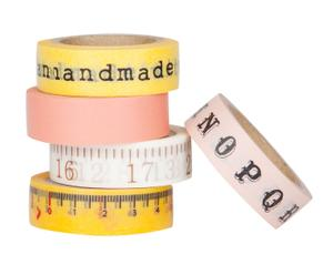 Set de 5 rollos de cinta adhesiva decorada Handmade