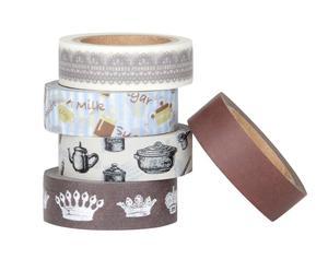 Set de 5 rollos de cinta adhesiva Cake