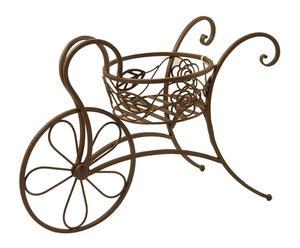 Carretilla decorativa de hierro con macetero Fortune