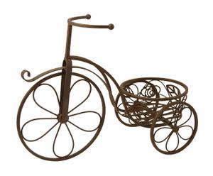 Bicicleta de hierro con portamacetas