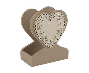 Servilletero de madera Heart