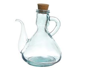 Aceitera de vidrio con corcho