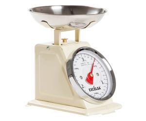 Balanza de cocina Vintage, beige - 3KG