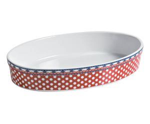 Bandeja para horno en porcelana Madras – rojo II